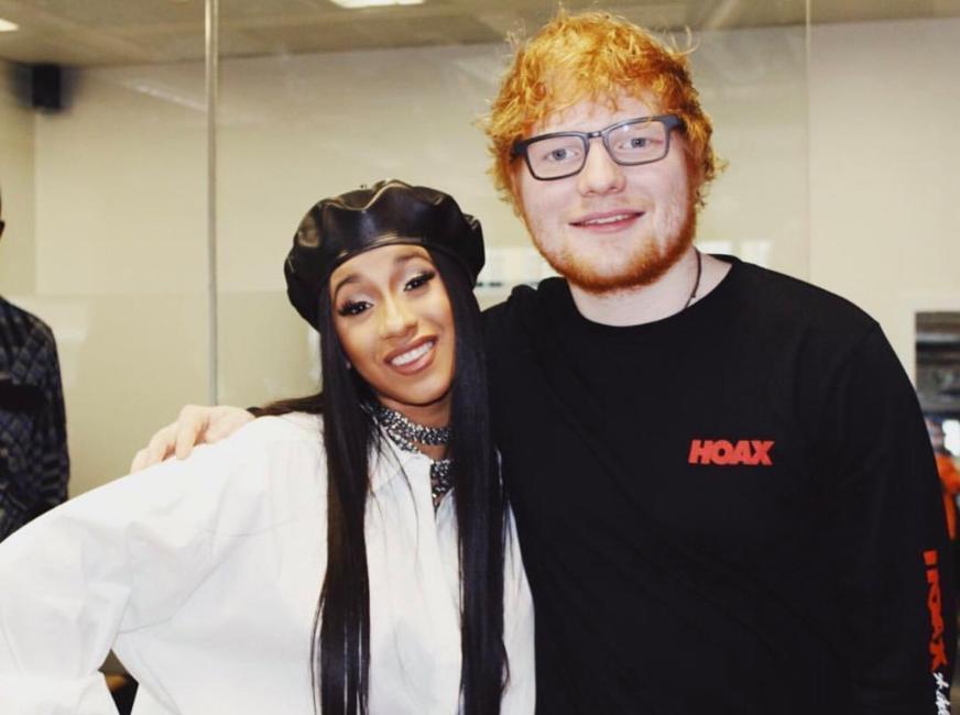 Ed Sheeran y Cardi B