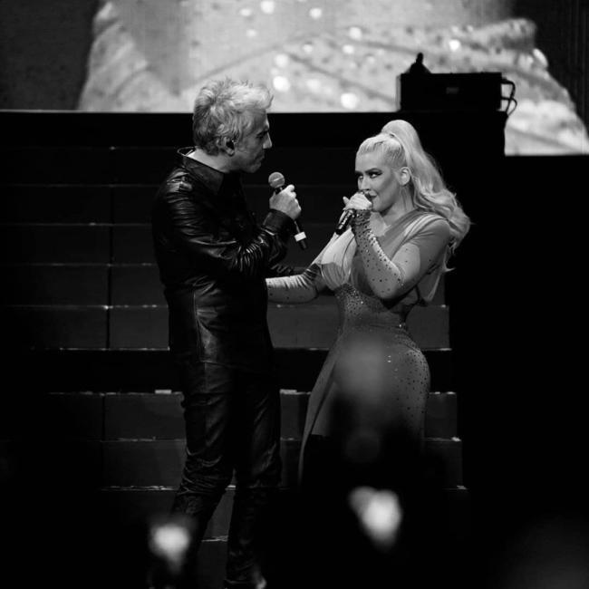 Christina Aguilera y Alejandro Fernández