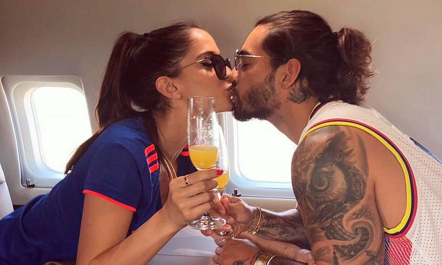 Maluma y Natalia Barulich