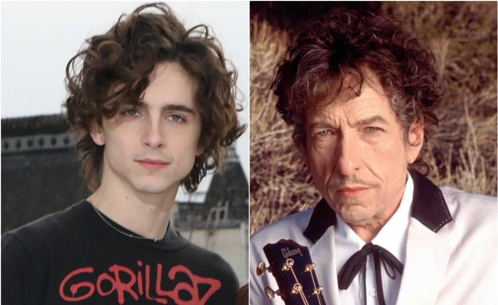Timothée Chalamet y Bob Dylan