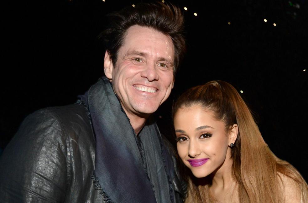 Ariana Grande y Jim Carrey