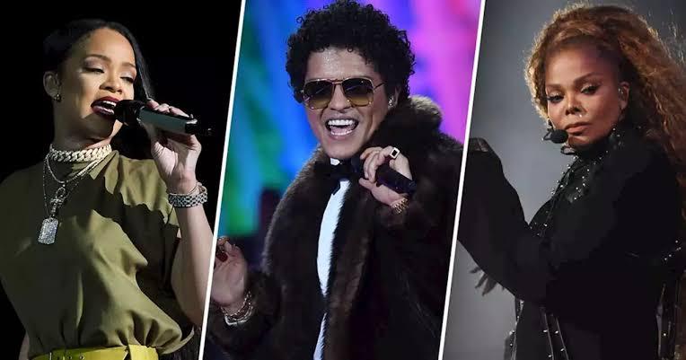 Bruno Mars, Rihanna y Janet Jackson