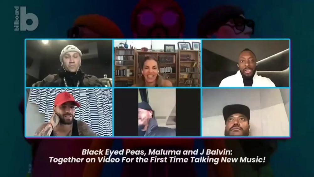 Black Eyes Pease y J Balvin (videollamada)