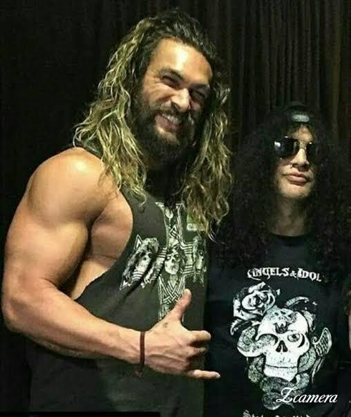 Jason Momoa y Slash
