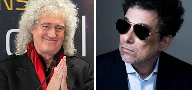 Brian May y Andrés Calamaro