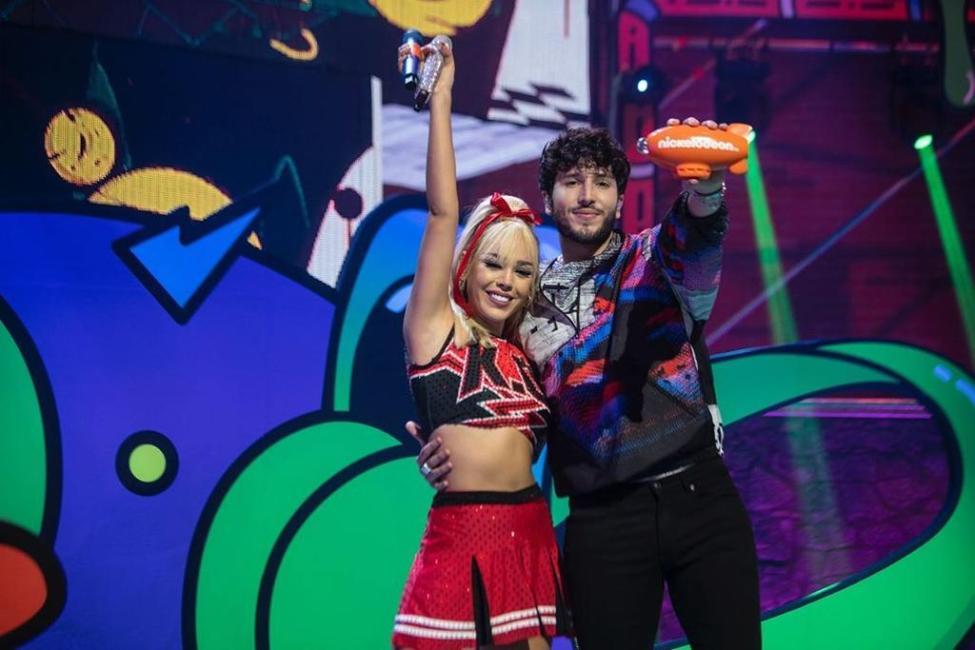 Danna Paola y Sebastián Yatra en Kids' Choice Awards 2020