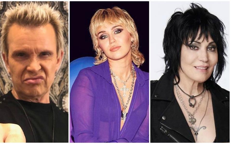 Billy Idol, Miley Cyrus y Joan Jett