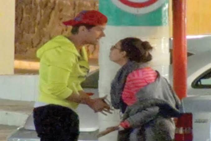Eleazar Gómez y Danna Paola discutiendo