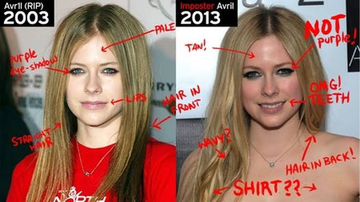 "Avril Lavigne y ""Melissa Vandella"""