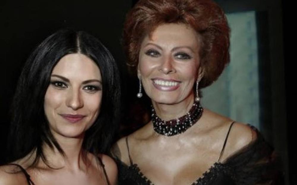 Laura Pausini y Sophia Loren