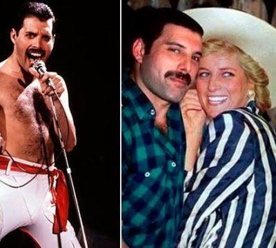 Freddie Mercury y la princesa Diana