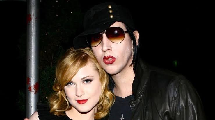 Evan Rachel y Marilyn Manson