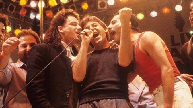 Paul McCartney y Freddie Mercury