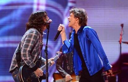 Mick Jagger y Dave Grohl