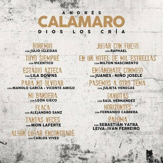 Julio Iglesias y Andrés Calamaro